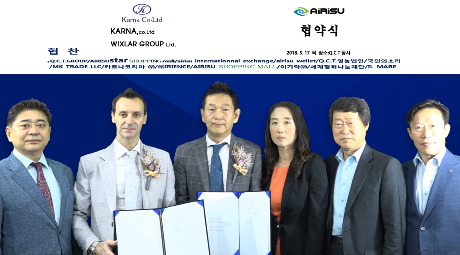 Wixlar Assigns MOU with Karna Co ltd for listing WIX Coins to AiRiSu International Exchange