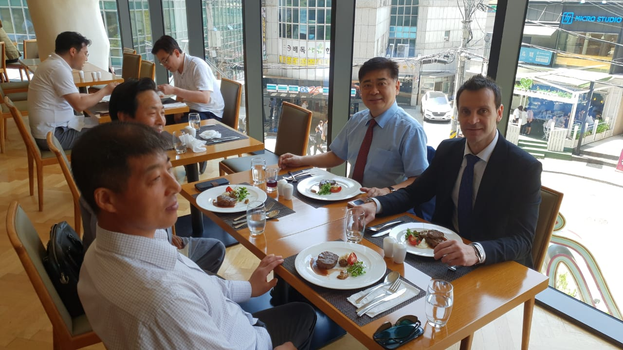 Wixlar Group having lunch with former deputy minister in south korea