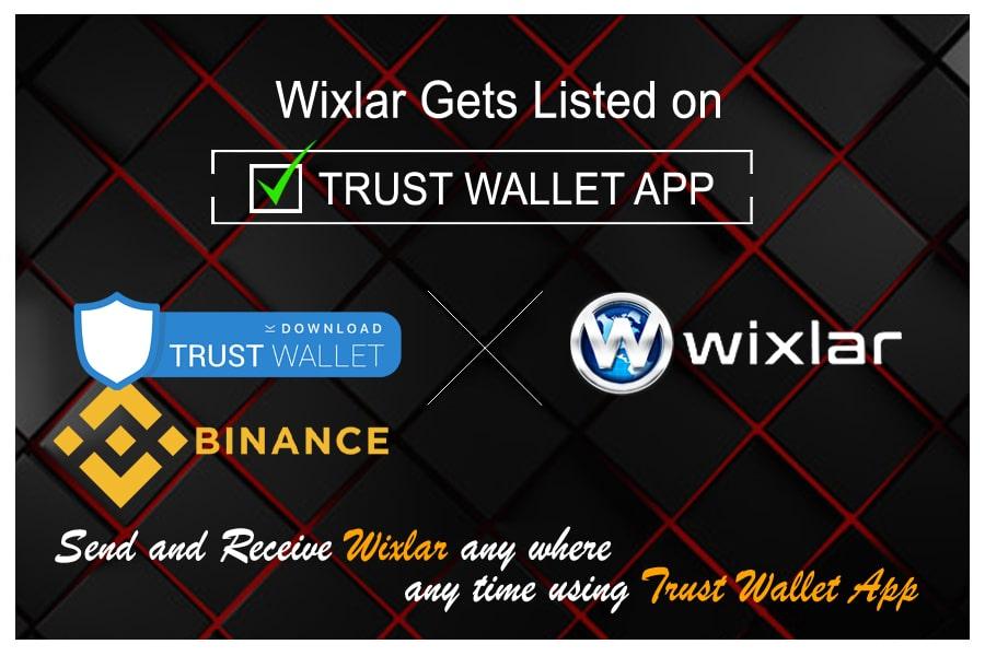 TrustWalletApp Binance ERC20 Ethereum Token Wixlar Listed on TrustWallet App IOS Blockchain Android-min