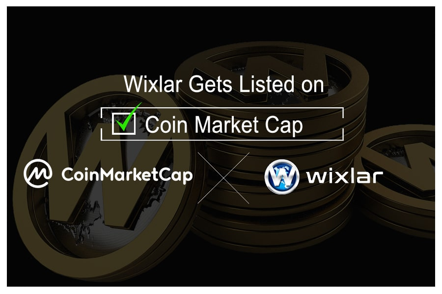 Wixlar ERC20 Ethereum Token Listed on CoinMarketCap Trading Volume-min