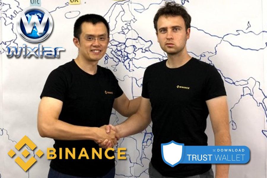Wixlar TrustWallet App and Binance Exchange-min