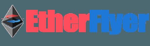 لوجو منصة التداول ايثر فلاير EtherFlyer اللامركزية لتداول الويكسلر كوين والعملات الرقمية