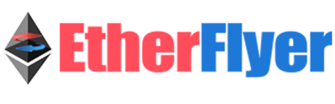 Etherflyer P2P Wixlar 분산 ERC20 토큰 교환 블록 체인 암호화 통화 에테르 로고
